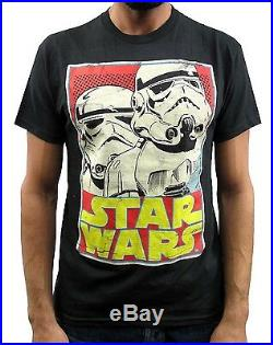 Star Wars Stormtroopers Trading Card Design Black Men's T-Shirt New