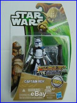 Star Wars The Clone Wars Captain Rex CW04 A0837 Canada Only Green Yoda Card New
