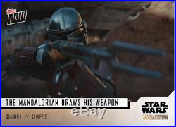 Star Wars The Mandalorian TOPPS NOW 5-Card Pack S1Chapter 1