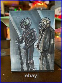 Star Wars Topps Artist Sketch Card 1/1 Bounty Hunter Puzzle by Mohammed Jilani