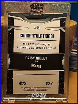 Star Wars Topps Signature Series Rey 1/1 Daisy Ridley Autograph Card Mint