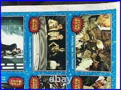 Star Wars Vintage ANH Series 1 trading card uncut PRESS sheet (1977) NOT CARDS