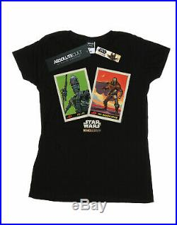 Star Wars Women's The Mandalorian Trading Cards T-Shirt