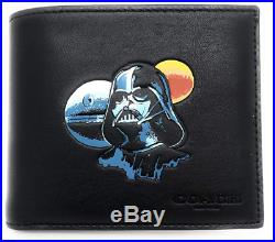 Star Wars X Coach 3-in-1 Wallet Card Case Darth Vader F85706 Leather Black Seal