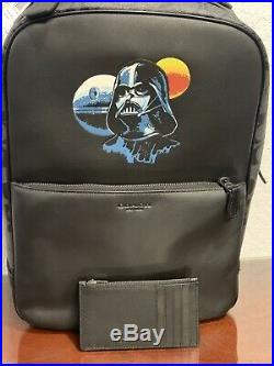Star Wars X Coach Westway Darth Vader Backpack Signature + Zip Card Wallet Case