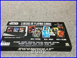 Stars Wars Heroes and Villians And Poster Card Game Playing Cards -3no Packs Set