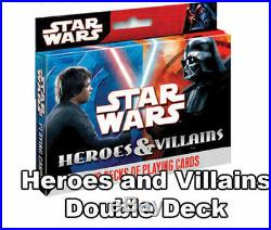 Stars Wars Heroes and Villians Poker Playing Cards 2 Pack