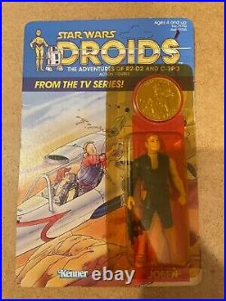 VINTAGE CARDED 1985 STAR WARS DROIDS CARDED THALL JOBEN FIGURE Unpunched