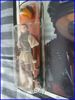 Vintage R. O. T. J Carded Princess Leia (Boushh Disguise). Very Good Condition