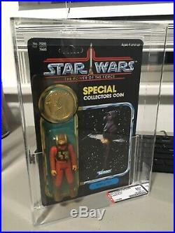 Vintage Star Wars Carded POTF B-Wing Pilot Action Figure AFA 80+ Y-NM