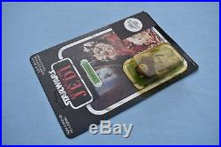 Vintage Star Wars Chief Chirpa on a foreign Clipper card ROTJ MOC (No AFA)