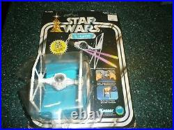 Vintage Star Wars Die Cast Imperial Tie Fighter with original card back/bubble
