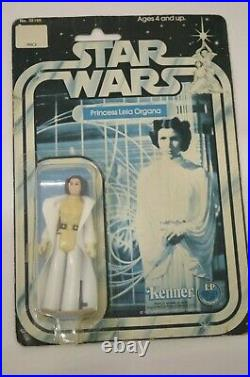 Vintage Star Wars Kenner Princess Leia Organa Carded Back A First 12