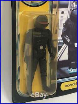 Vintage Star Wars POTF IMPERIAL GUNNAR Unpunched Carded with Star case