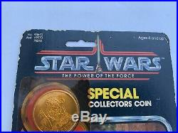 Vintage Star Wars POTF LUMAT LAST 17 Carded Action Figure 92 Back EWOK COIN
