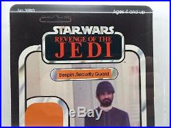 Vintage Star Wars Revenge Of The Jedi Proof Card Bespin Security Guard AFA 85