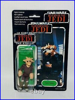 Vintage Star Wars Tri Logo Ree Yees Carded Action Figure MOC Molded Hand Variant