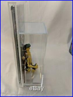Vintage star wars potf last 17 Amanaman Apg Graded 90+ With Card back And Coin